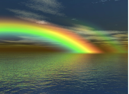 Description: rainbow, colours, colors, nature, water, sea, ocean