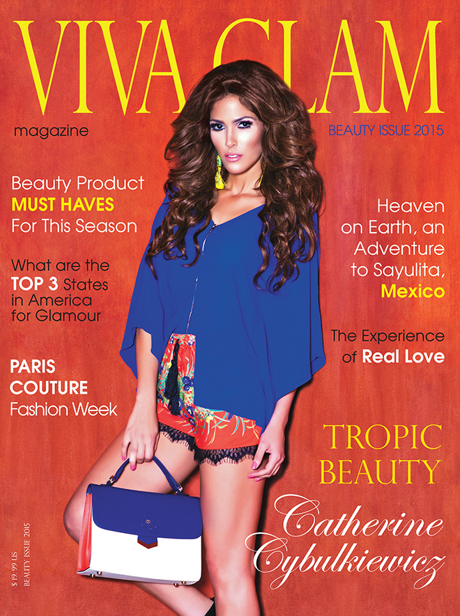 COVER CATHERINE CYBULKIEWICZ VIVA GLAM MAGAZINE TROPIC BEAUTY WINNER