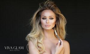 katarina van derham nude sexy makeup sculpting contouring viva glam magazine cashmere hair