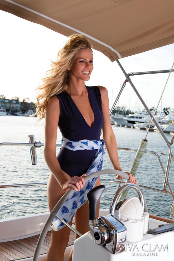 VIVA GLAM MAGAZINE Sexiest Issue, Scarlett Burke Boohoo Bodysuit yacht captain