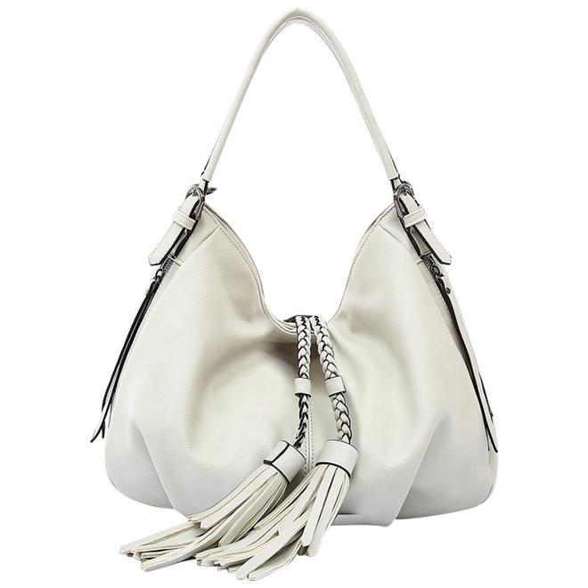 Ethical Luxury melie bianco trudy large boho tassel bag