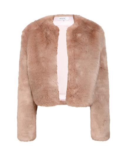 faux fur coats House of CB blush