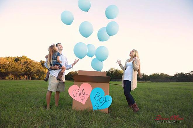 gender reveal parties balloon box