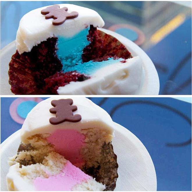 gender reveal parties cupcakes inside