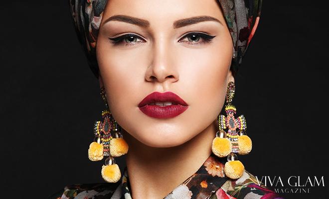 Jewelry Handmade cross earrings yellow pom poms, VIVA GLAM MAGAZINE