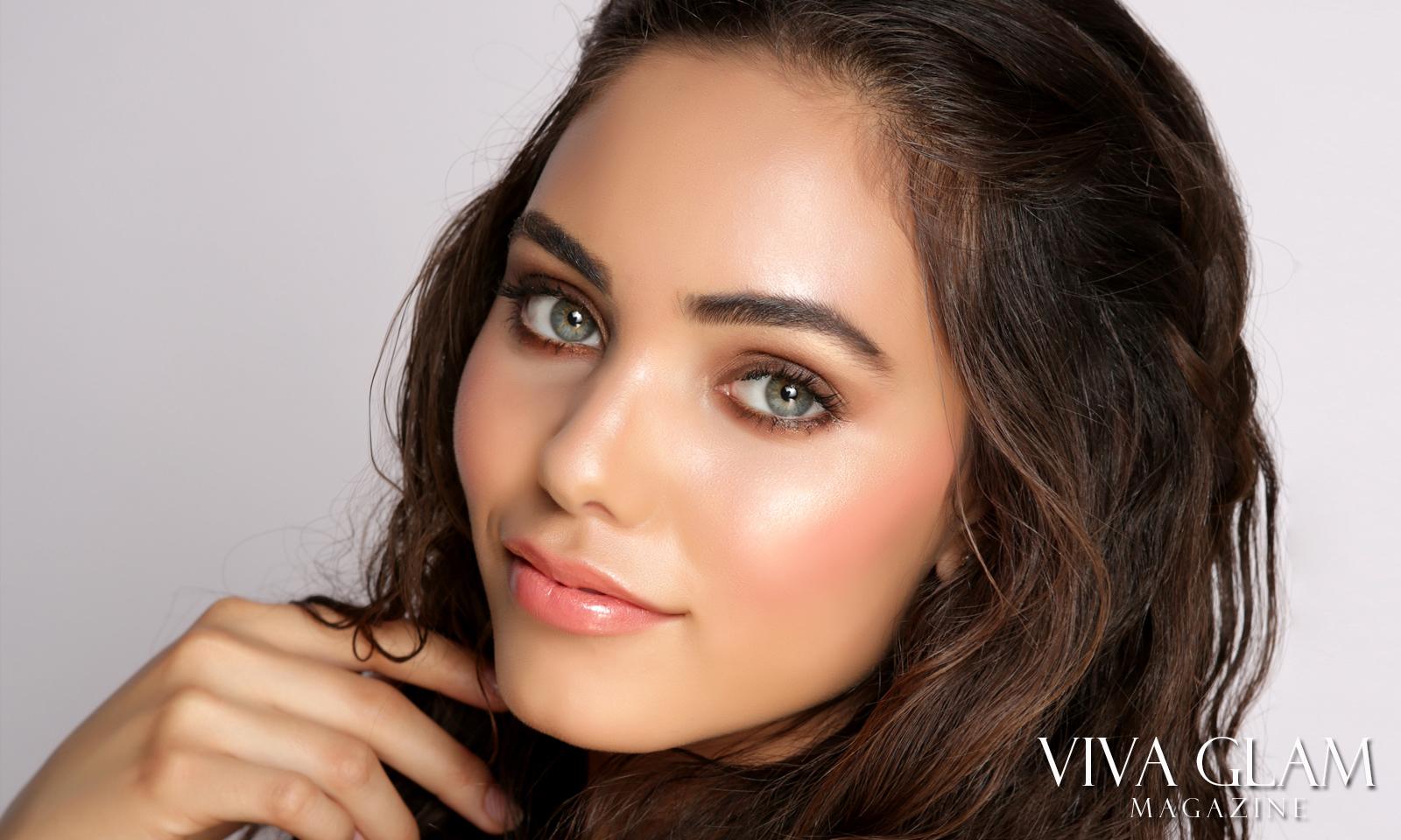 VIVA GLAM MODEL Haley Amaya Dewy Makeup Look Tutorial