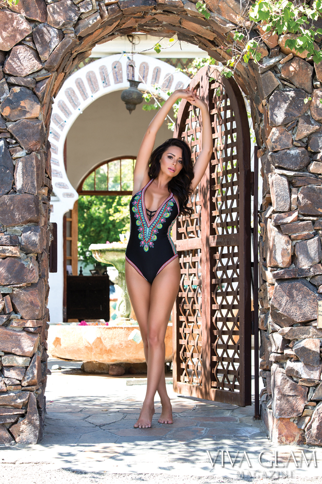 Top 20 Sexiest-2017-Emelina-Adams-Trina-Turk-swim-Korakia-doorway, Photographer Deja Jordan Makeup Hair Katarina Van Derham