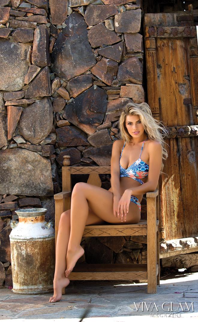 Top 20 Sexiest-2017-Paige-Collings-Korakia-Pensione-Maaji-swim-wooden-chair, Photographer Deja Jordan Makeup Hair Yaniv Katzav