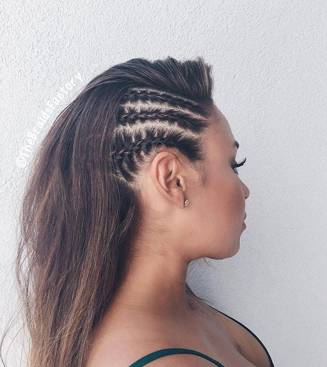 21 French Braid Hairstyles that are Tre's Flawless side French braids