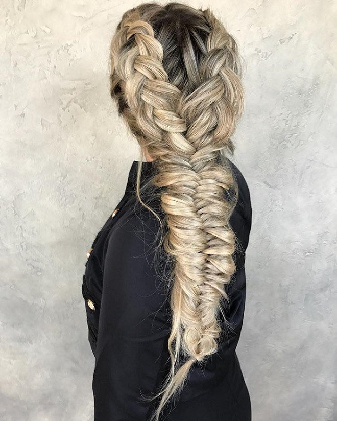 23 Best Fishtail Braids on Instagram messy fishtail
