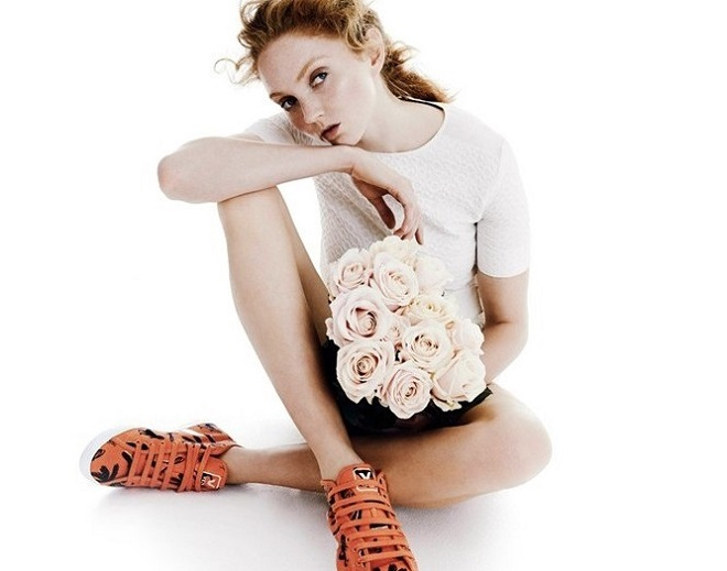 15 Celebrity Fashion Lines that Have Cruelty-Free Items shoes flowers white shirt