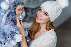 winter beauty, christmas, holiday season, sweater