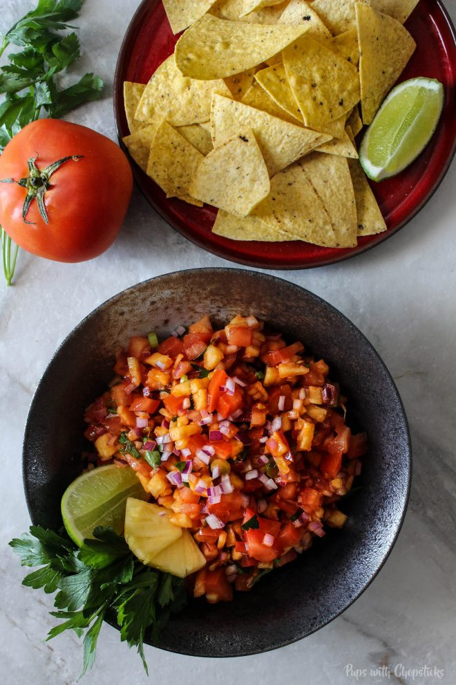 22 Vegan Recipes to Enhance with Gochujang SWEET & SPICY PINEAPPLE SALSA