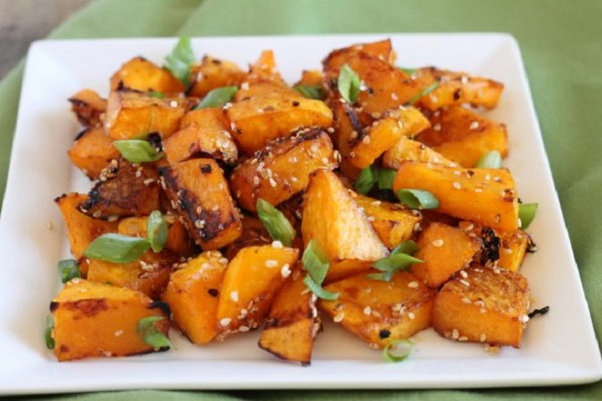 22 Vegan Recipes to Enhance with Gochujang Butternut Squash with Sesame and Gochujang