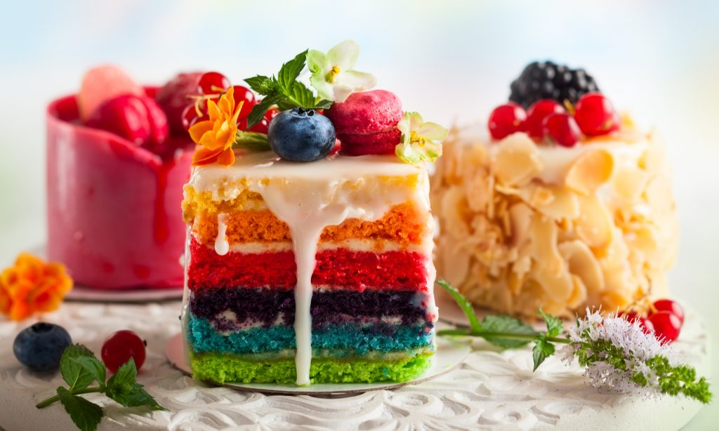 cake, color, rainbow, dessert, treats, cakes, tea cakes