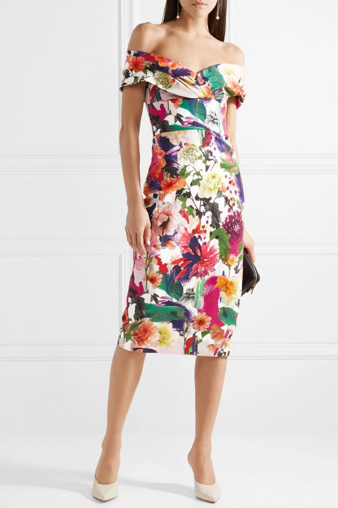 21 Spring Dresses for a Glamorous Easter floral dress