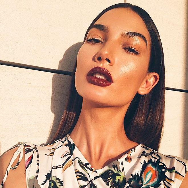 45 of Joyce Bonelli's Best Beauty Looks on Instagram burgundy lips