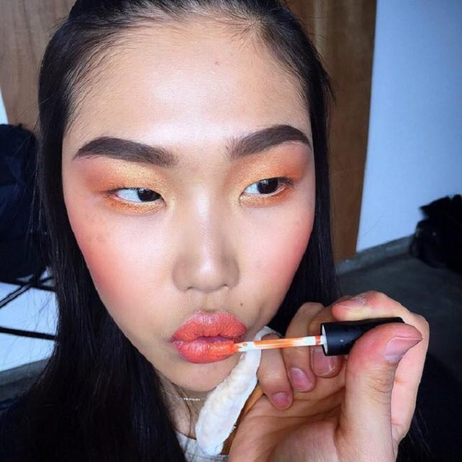 45 of Michael Anthony Best Beauty Looks on Instagram orange lipstick orange eyeshadow