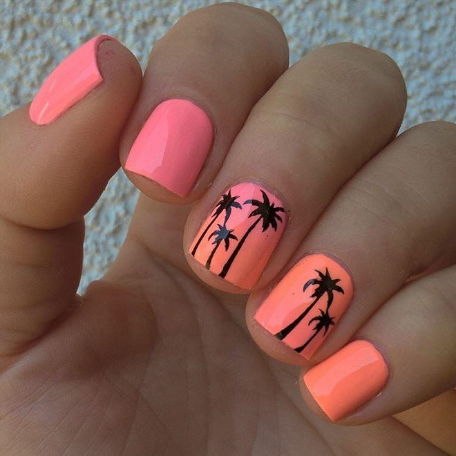 15 Nail Trends You Need to Sport This Summer palm trees