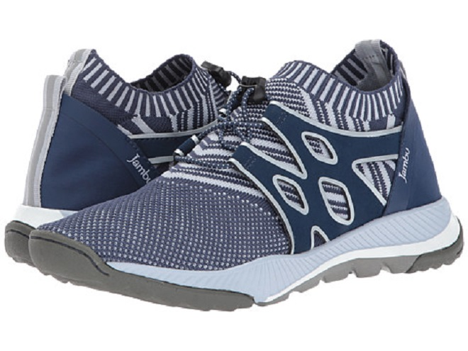 10 Vegan Sneakers You'll Love Under $100 Jambu - Jackie Vegan (Navy Jacquard Reflective/Neoprene/Microbuck)