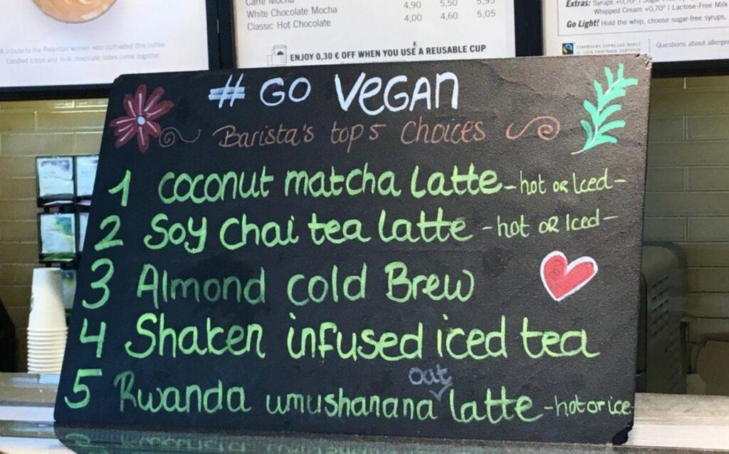 Amsterdam Starbucks Promotes Veganism to its Customers